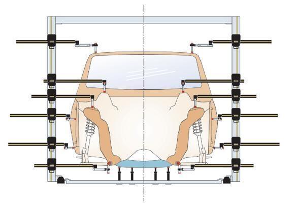 Линейка для замера геометрии кузова своими руками